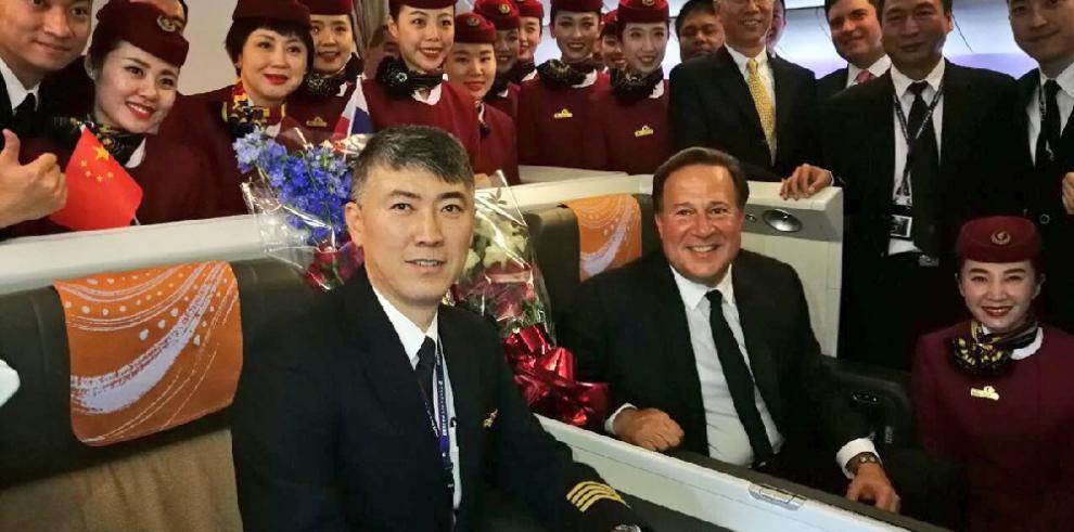 Arriba a Panamá primer vuelo de Air China