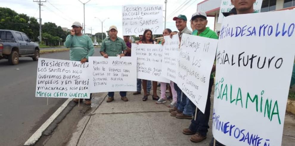 Trabajadores de Minera Cerro Quema esperan respuesta del MICI