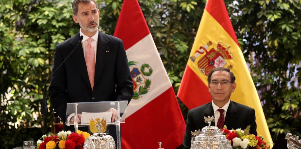 Felipe VI ofrece apoyo a Perú contra la corrupción y para la gobernabilidad