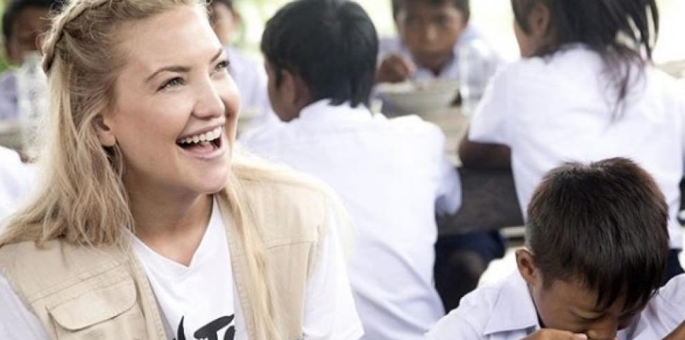 La actriz Kate Hudson es la nueva embajadora de buena voluntad del PMA