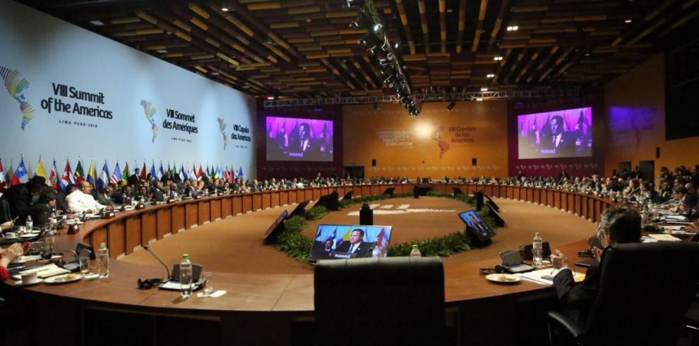 """Panamá acoge el """"Compromiso de Lima"""" surgido en la Cumbre de las Américas"""