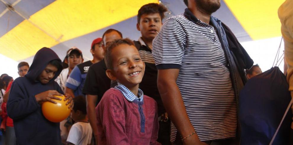 Caravana migrante se acerca más al D.F.