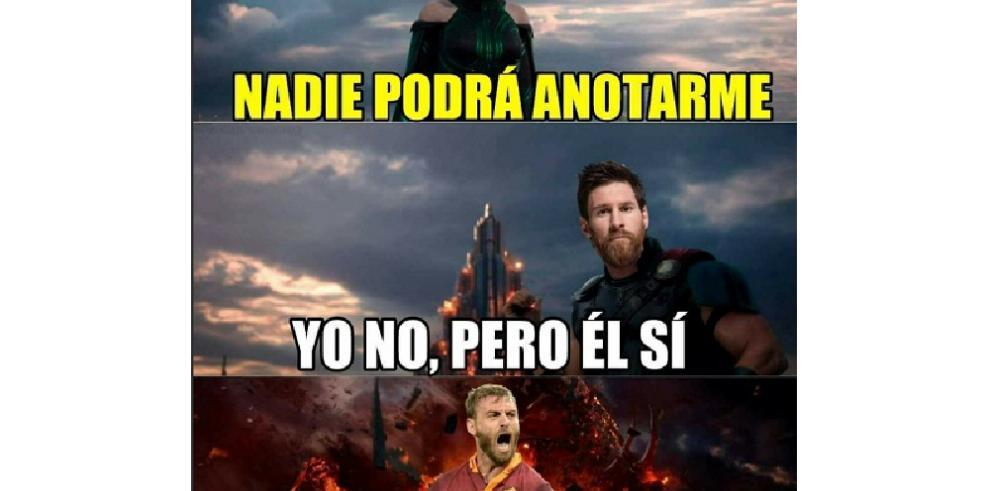 La Roma aniquila al Barcelona y aquí sus memes