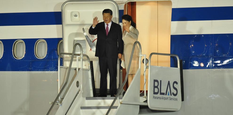 XiJinping, presidentede China llega a Panamá para fortalecer lazos comerciales