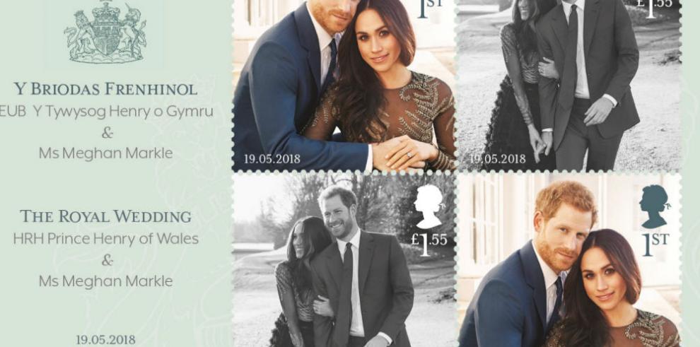 Salen a la venta sellos postales con motivo de la boda del príncipe Enrique
