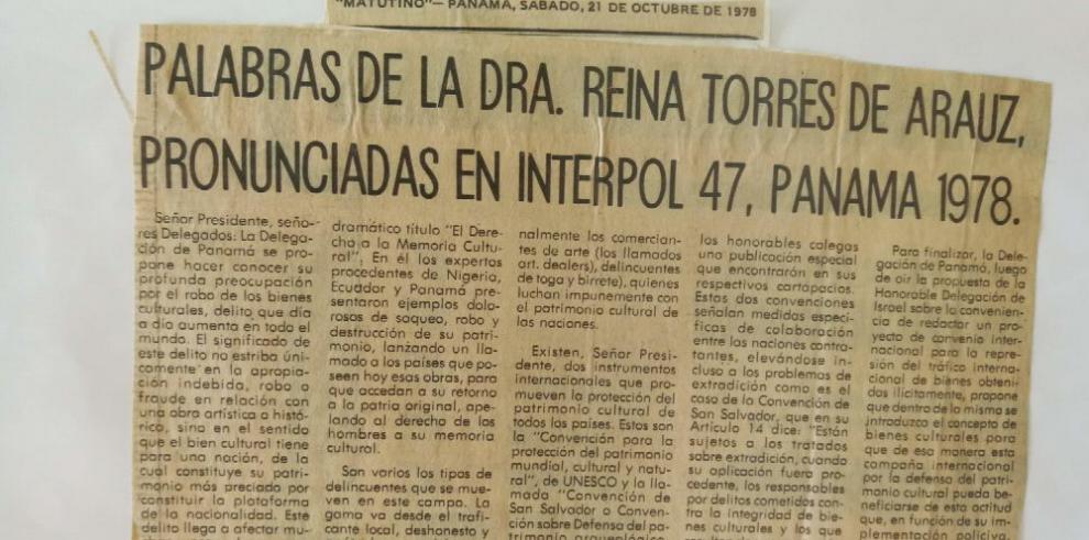 Reina Torres de Araúz, una corta pero fructífera vida al servicio de la cultura nacional