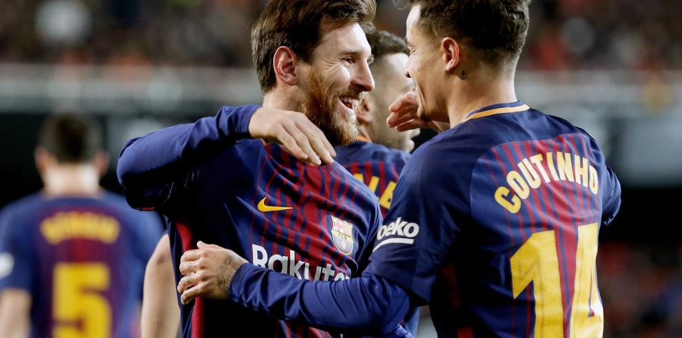 ElBarça pasa a la final de la Copa del Rey con gol deCoutinho