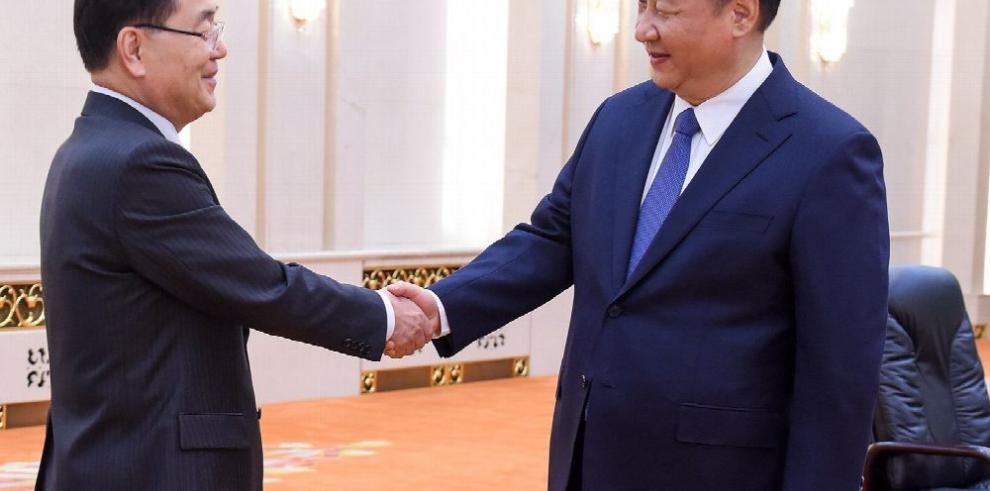 Xi respalda reunión entre Kim y Trump
