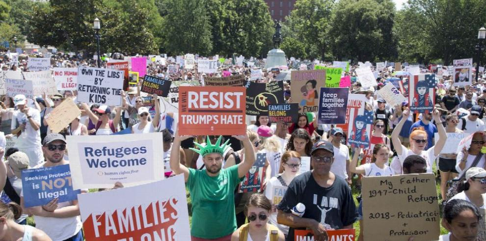 Protesta contra la política migratoria de Donald Trump