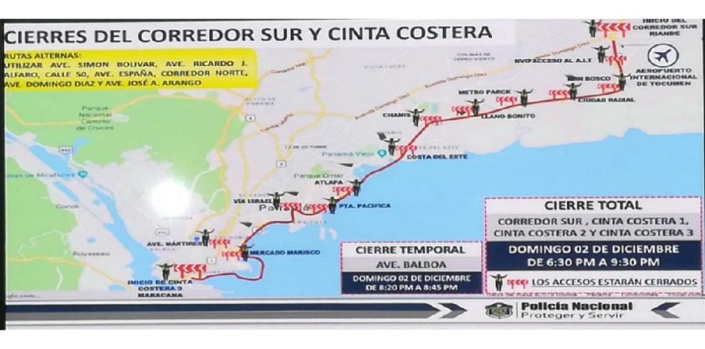 Limitarán accesos viales por la visita de Xi Jinping a Panamá