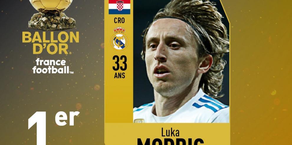 Luka Modric ganadordel Balón de Oro 2018