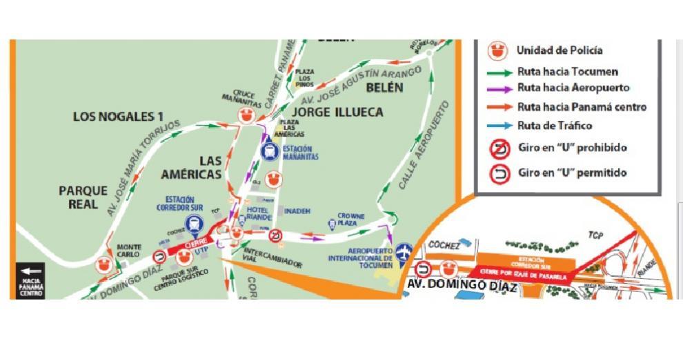 Cierre de la vía Domingo Díaz por trabajos de las Línea 2 del Metro