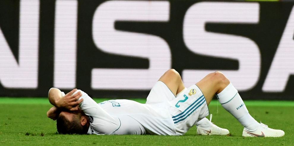 Dani Carvajal se lesionó en el minuto 35 de la final de la Liga de Campeones