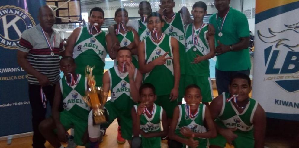El Abel Bravo ganó por partida doble en baloncesto Kiwanis