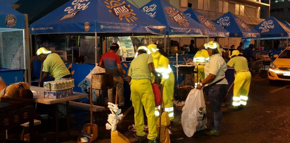 Más de 240 toneladas de basura recolectó la AAUD en la Cinta Costera