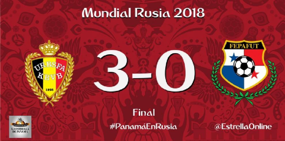 Panamá se estrena en un Mundial con una clara derrota