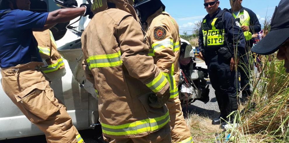 Se registra accidente de tránsito en la vía Interamericana