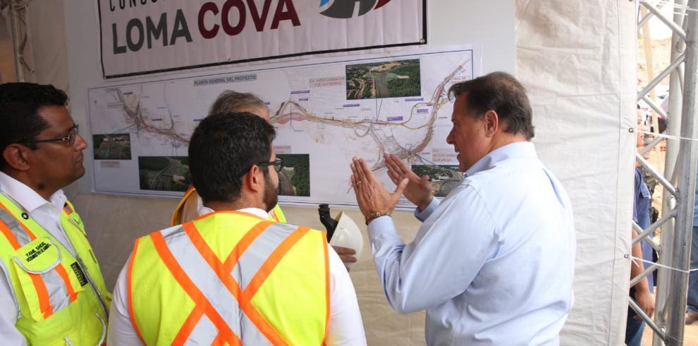 Varela inspecciona proyecto de ampliación vial en Panamá Oeste