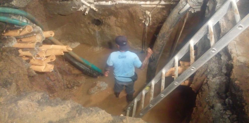 Varios sectores sin agua el martes por arreglosde la línea de 30