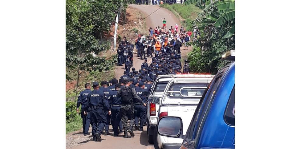 Dieciocho personas detenidas en enfrentamientos por desalojo en Arraiján