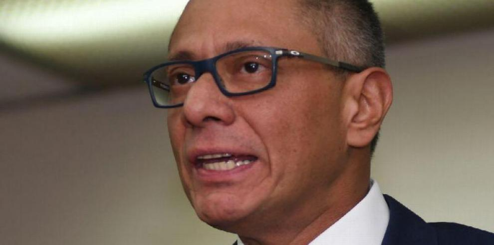 Exvicepresidente ecuatorianoJorge Glasinicia huelga de hambre