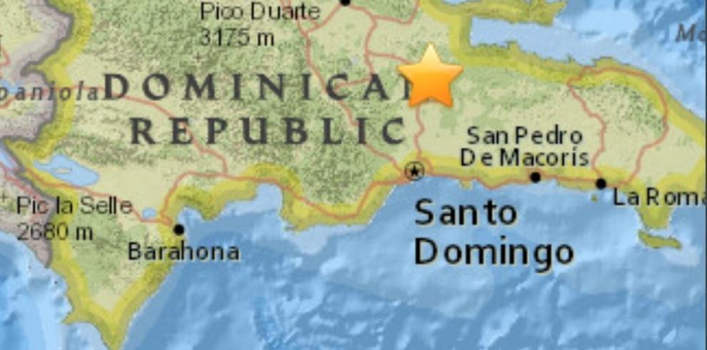 Un temblor de magnitud 5,0 en escala Richter sacude República Dominicana
