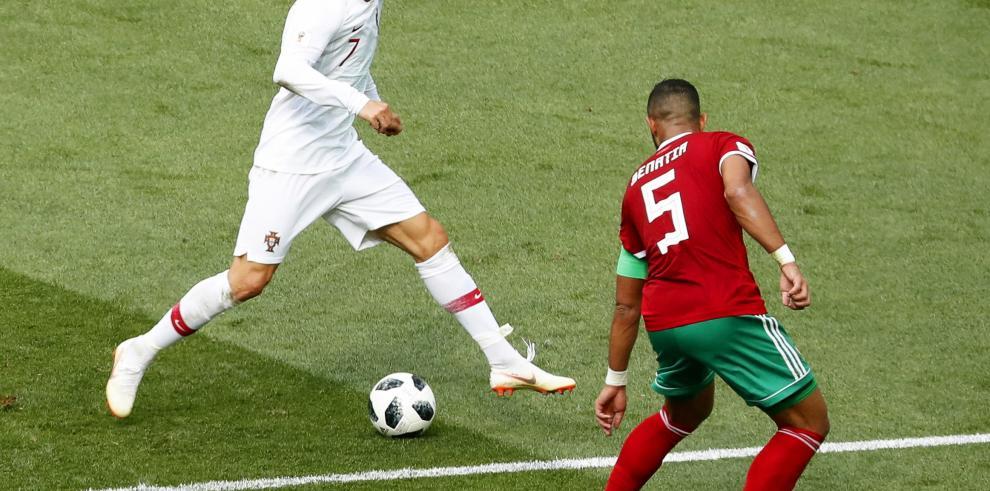 1-0: Portugal vence con gol de Ronaldo y Marruecos, primera eliminada