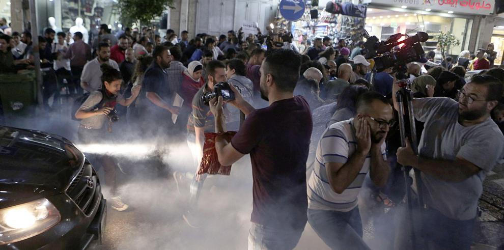 Centenar de palestinos protesta en Belén las sanciones de ANP contra Gaza