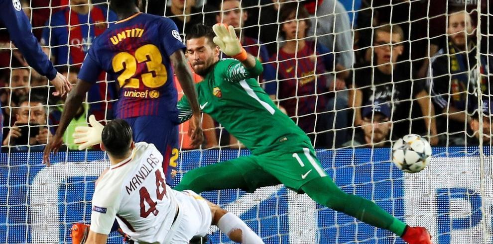 El Barça viajará a Roma con un 4-1 de ventaja