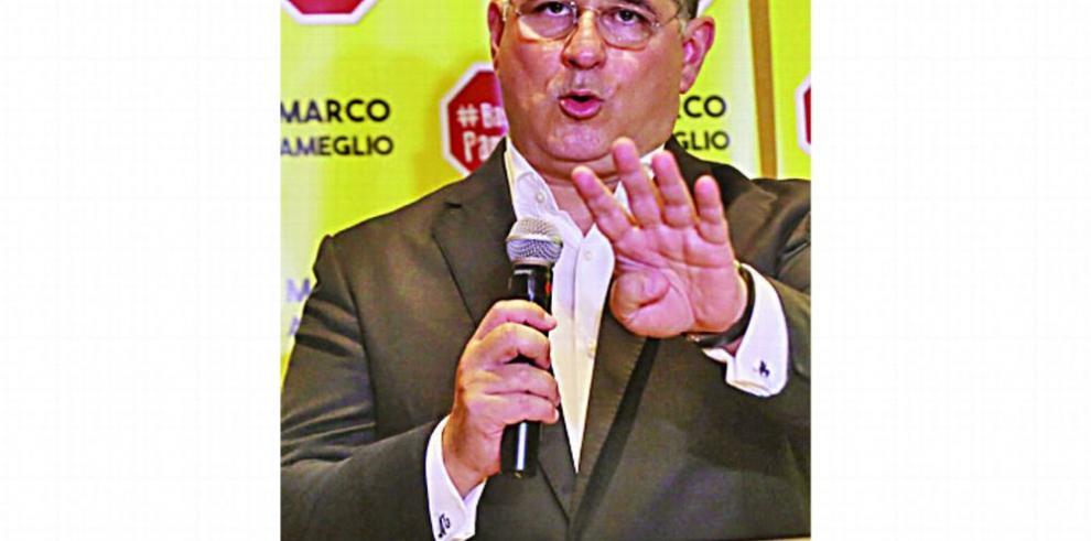 Marco Ameglio desplaza a Lombana