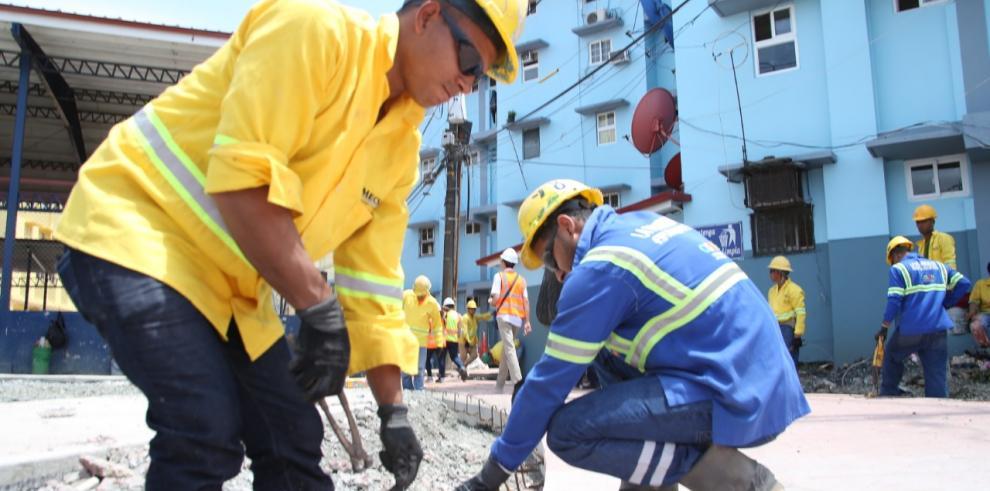 Trabajos de Renovación Urbana de Colón presentan más de 80% de avance
