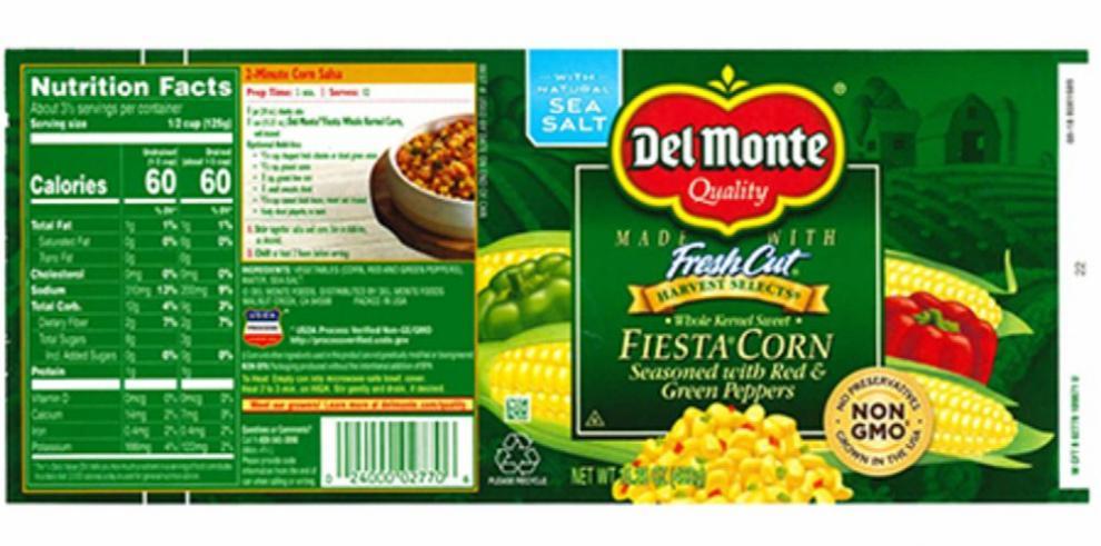 Aupsa alerta sobre el retiro del producto Fiesta Corn Del Monte