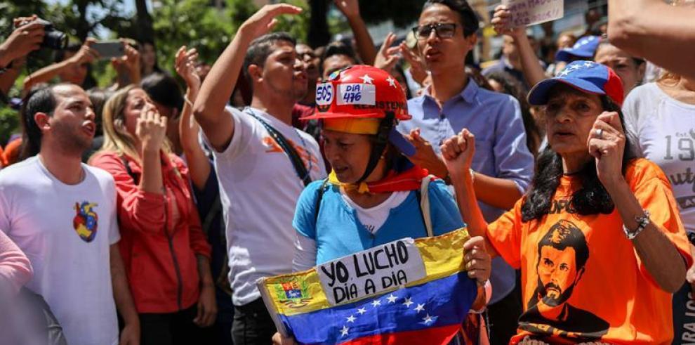 El chavismo marcha nuevamente para rechazar el atentado contra Maduro