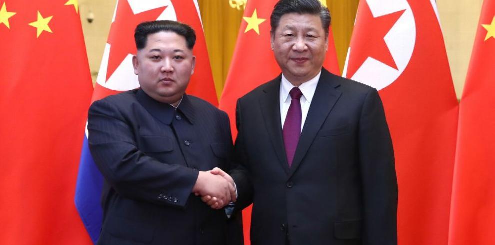Trump: 'estaba informado de la reunión de Kim y Xi'