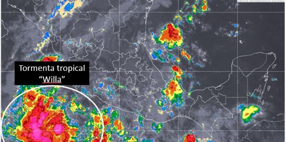 Las tormentas Willa y Vicente causarán lluvias en ocho estados mexicanos