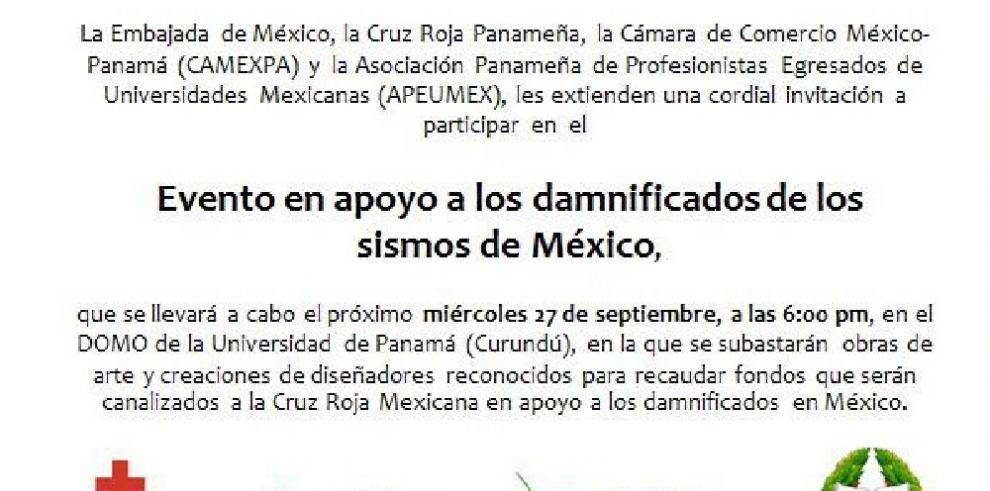 Subasta de arte en Panamá recaudará fondos para ayuda humanitaria para México