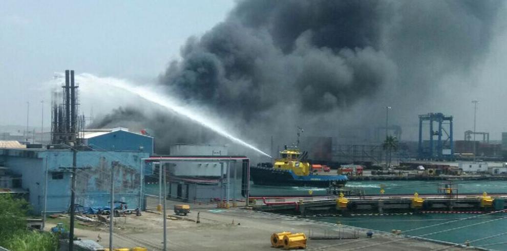 Incendio en Colón