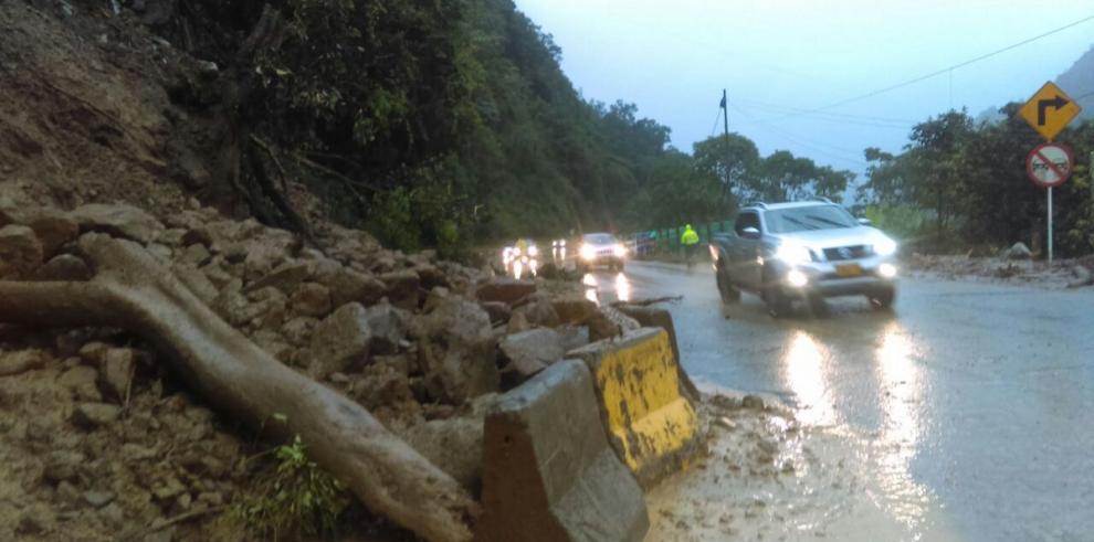 Cinco regiones de Colombia afectadas por lluvias y deslizamientos
