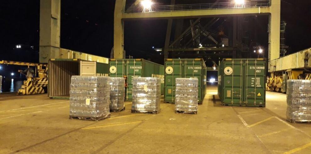 Panamá envió tres contenedores de ayuda humanitaria a Puerto Rico