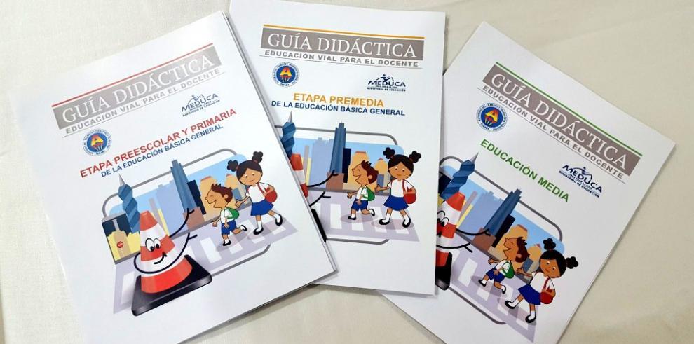 Meduca y ATTT lanzan guías de educación vial dirigidas a estudiantes