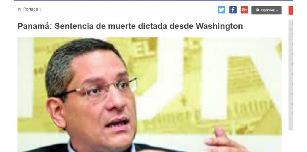 Panamá: Sentencia de muerte dictada desde Washington