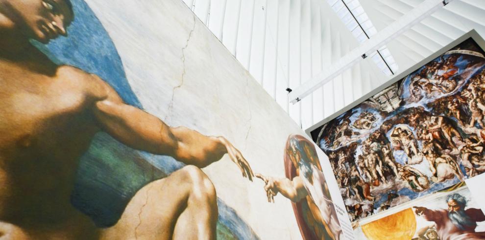 La estación del WTC de Nueva York expone reproducciones de la Capilla Sixtina