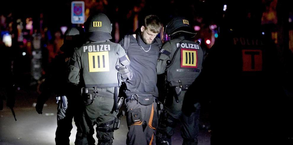 Nuevos disturbios en Hamburgo se saldan con más agentes heridos y detenciones