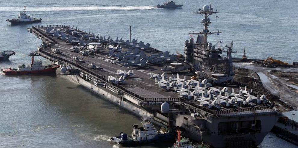 EEUU envía portaaviones hacia la Península de Corea