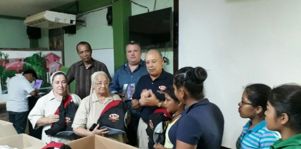 Hogar Malambo recibe donación de la OMB