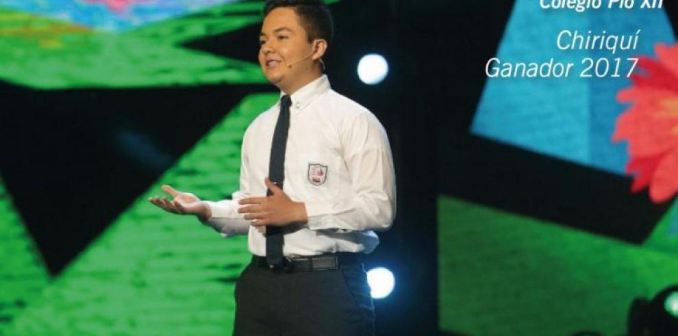 Alejandro Moreno de Chiriquí gana el Concurso Nacional de Oratoria 2017