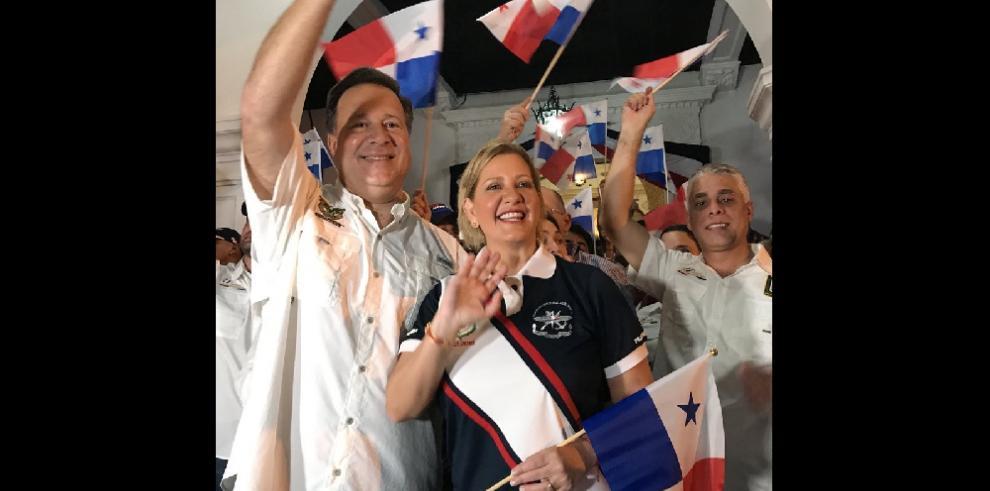Con alegría y fervor patriótico se realizaron las dianas en la Presidencia
