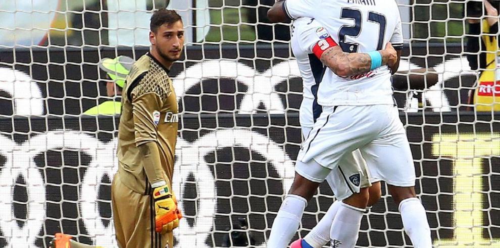 Milan cae ante el Empoli y Lazio golea