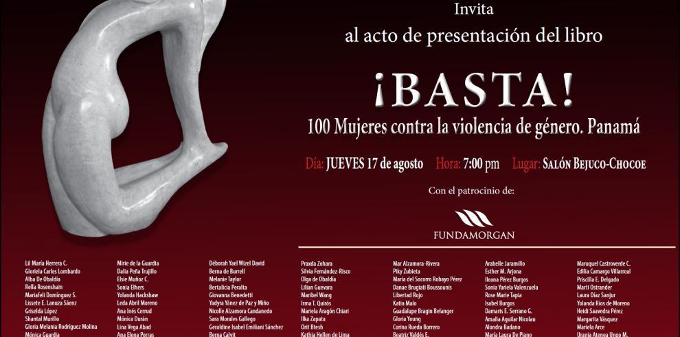 Lanzarán versión panameña de ¡Basta! contra la violencia de género