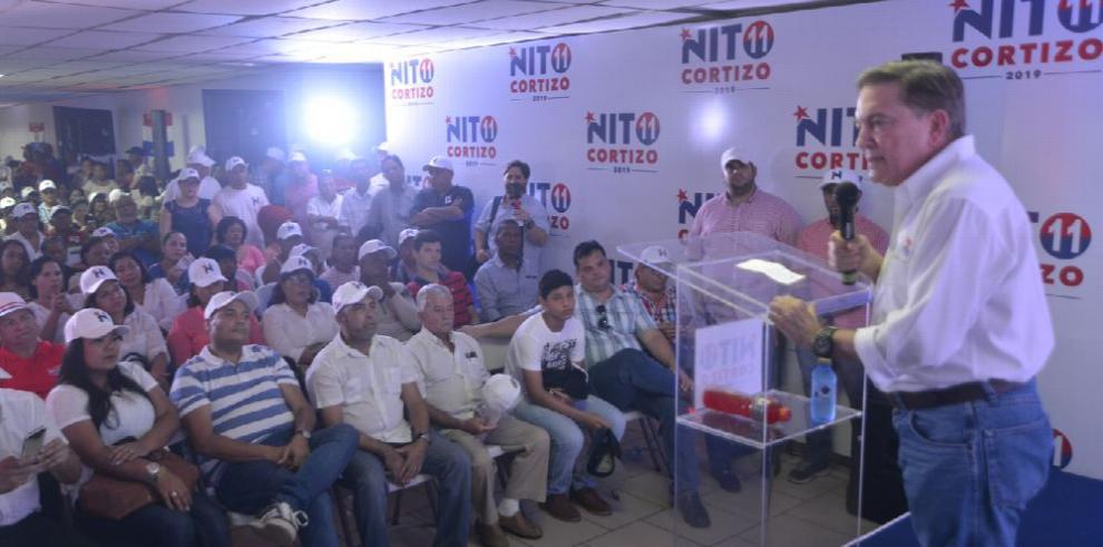 'Basta de inseguridad en el país', 'Nito' Cortizo